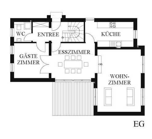 haus sieht klein aus. Black Bedroom Furniture Sets. Home Design Ideas