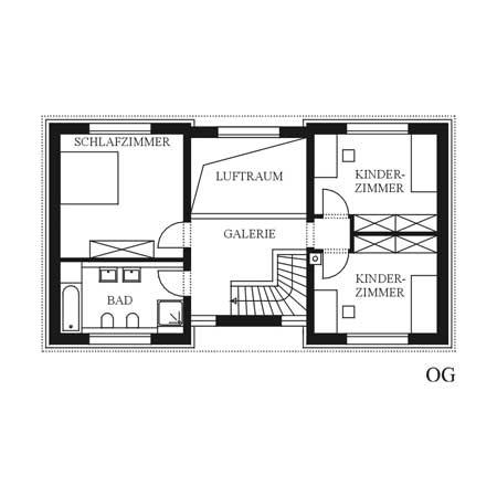 Projekte im detail 30er jahre haus for Grundriss kleines einfamilienhaus